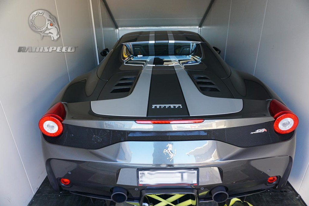 Ferrari-458-Speciale-Enclosed-Car-Transport-Delivery-Vehicle-Trailer-Pickup-Delivery-RamSpeed